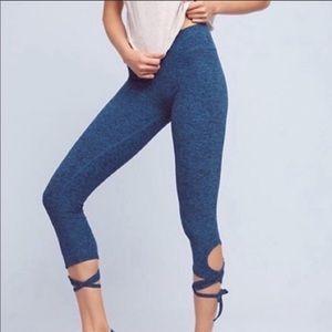 Beyond Yoga Blue Spacedye Wrap Tie Legging